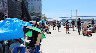 "A teeny, tiny section of the Hall H ""Next Day Line"" on Friday morning."
