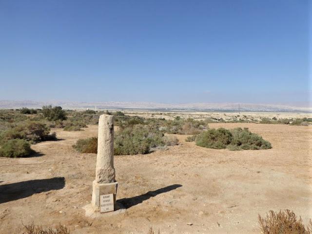 ingresso sito betania e dall'altro lato s'intravede Gerusalemme