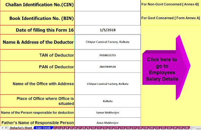 Download Automated Revised Excel Based Income Tax Salary Certificate Form 16 Part B for the F.Y. 2019-20 2