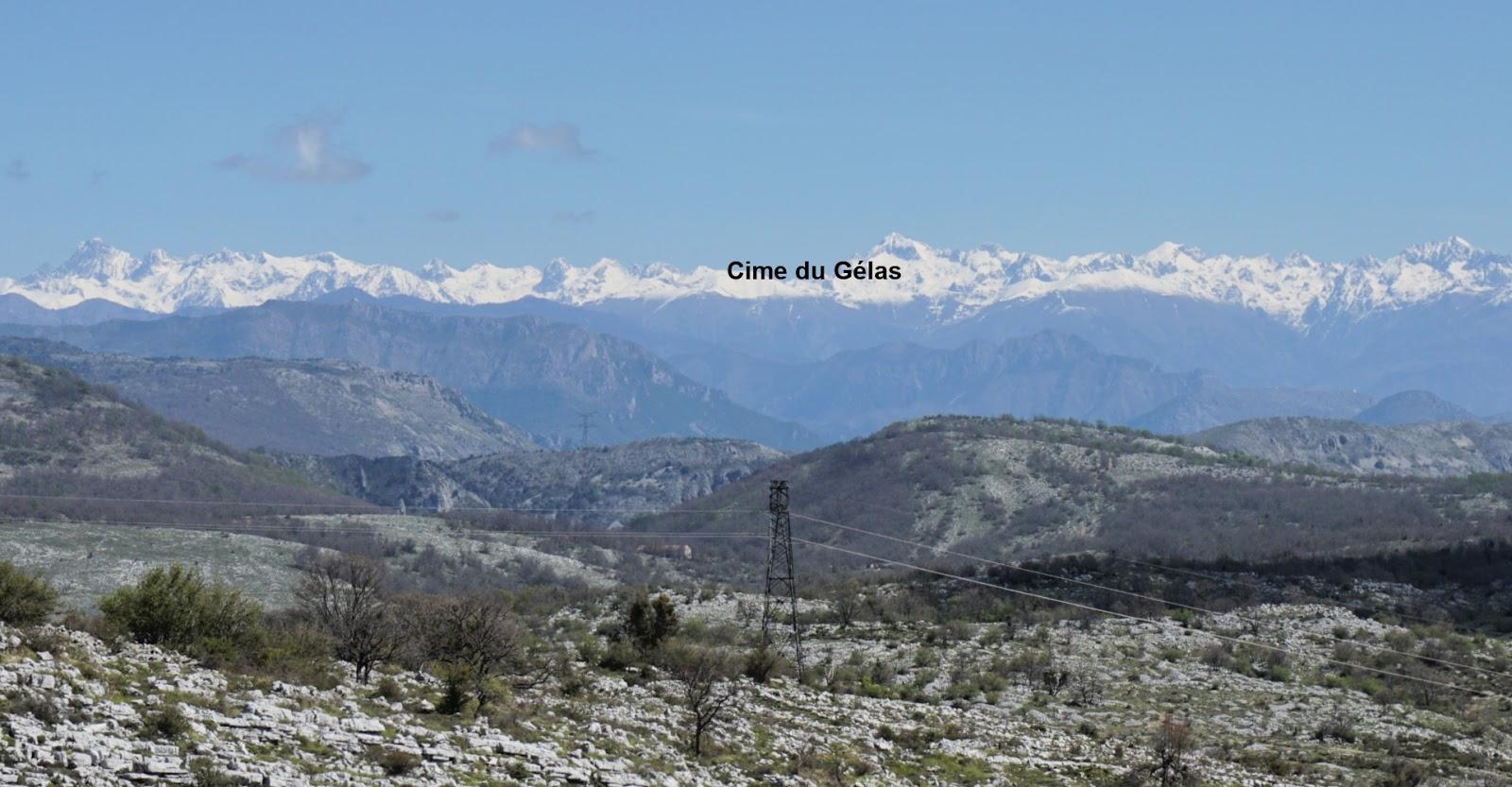 Cime du Gélas and southernmost Alps