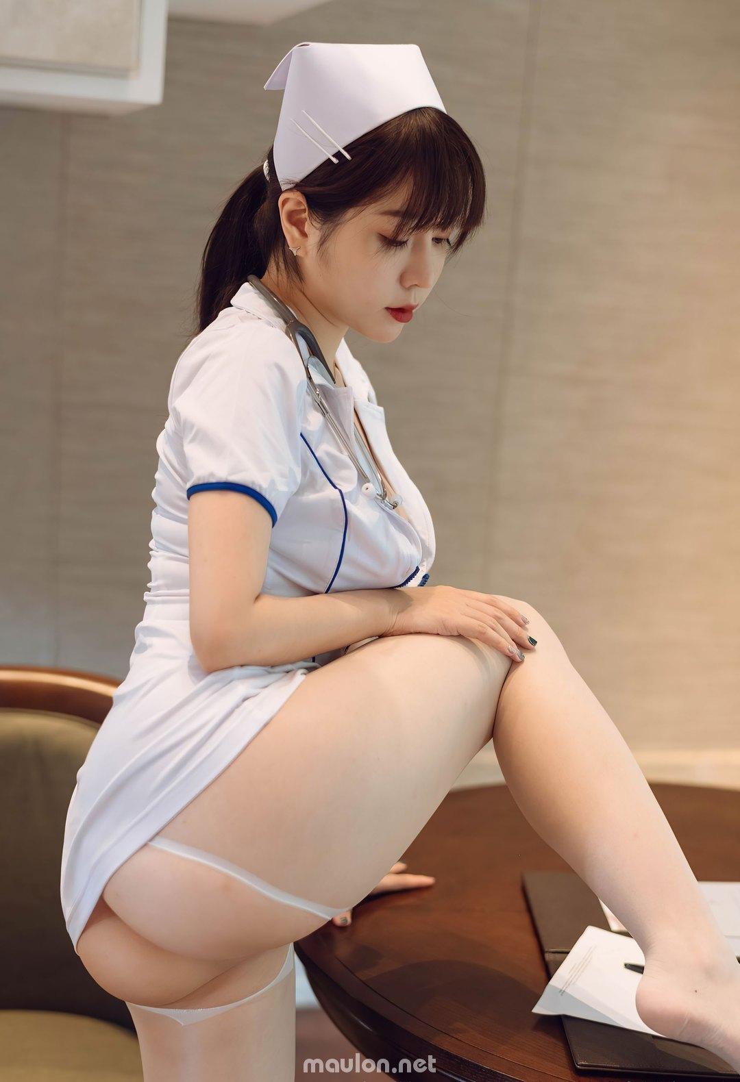 MauLon.Net - Hình ảnh nữ y tá sexy xiuren 01