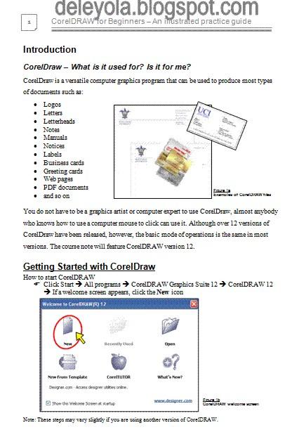 free coreldraw practice guide computer studies ict resources rh deleyola blogspot com