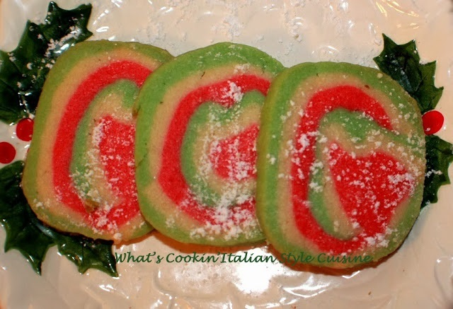 slice and bake sugar cookies green, red and white