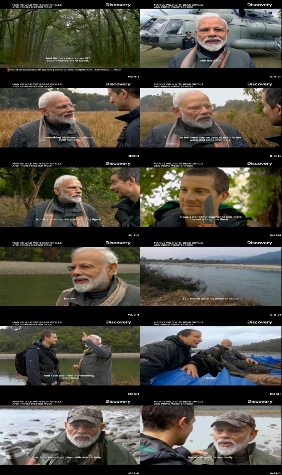 Man Vs Wild with Bear Grylls and PM Modi 2019