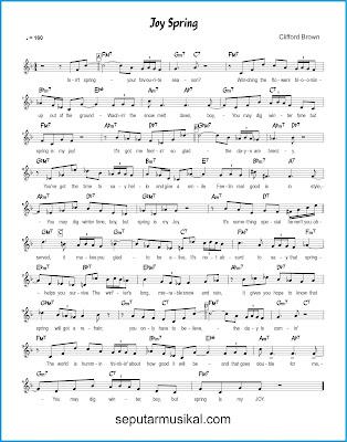 Joy Spring chords jazz standar