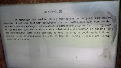 fort christmas historical park storehouse plaque