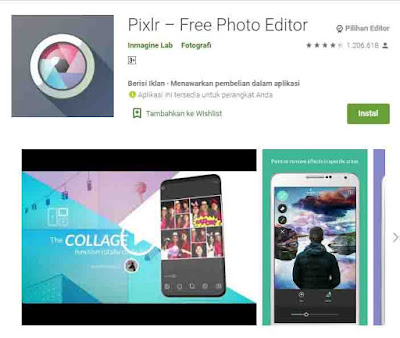 Aplikasi Pixlr memperjelas foto buram dan jelek