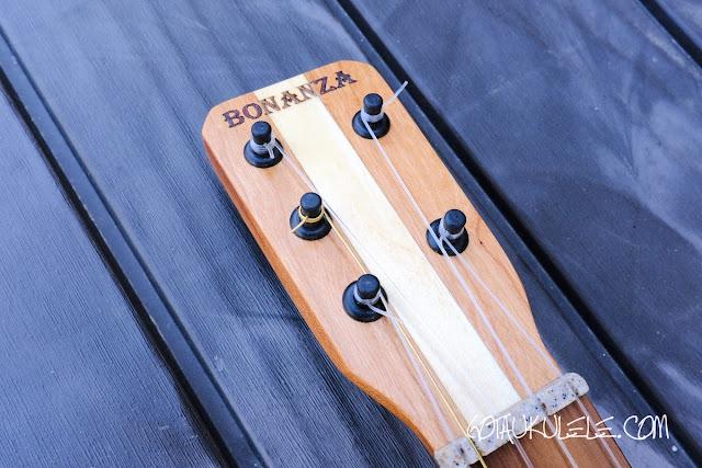 Bonanza 5 String Tenor Ukulele headstock