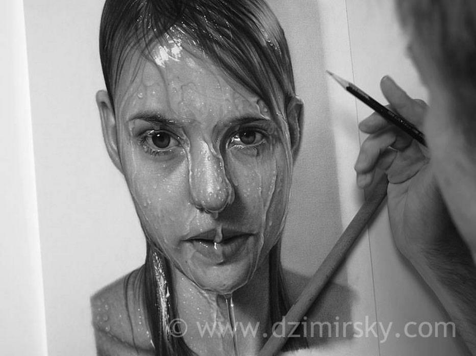 Pintura Moderna y Fotografa Artstica  Cuadros A Lpiz De