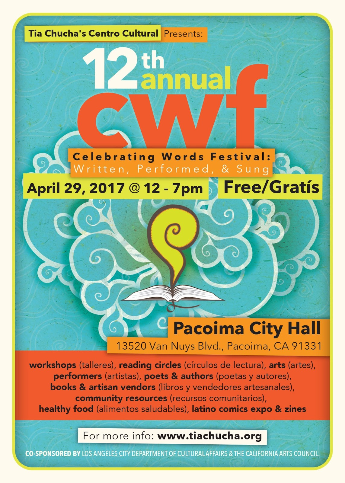 La Bloga Tia Chucha S 12th Annual Celebrating Words Festival