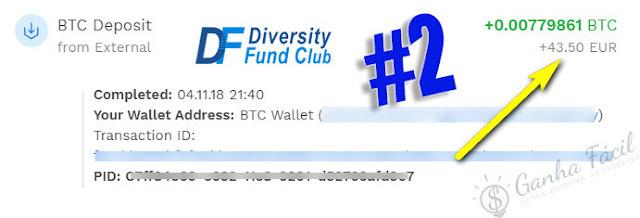 pagamento diversity fund club bitcoin dinheiro bitpanda