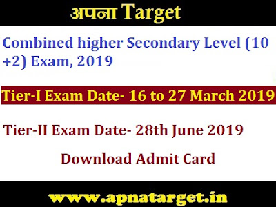 SSC CHSL Tier 1 Admit Card 2020