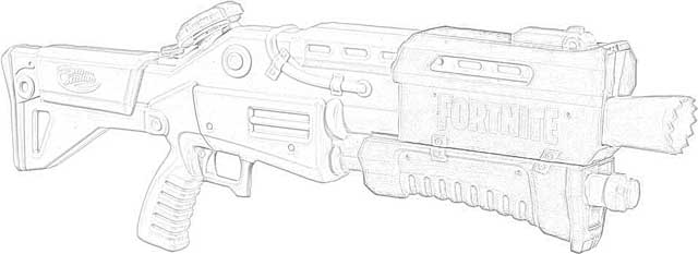 Coloring Pages Nerf Fortnite Blasters Coloring Pages Free
