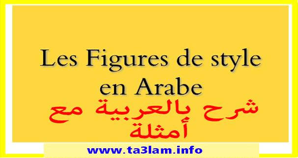 شرح درس les figures de style بالعربية مع أمثلة
