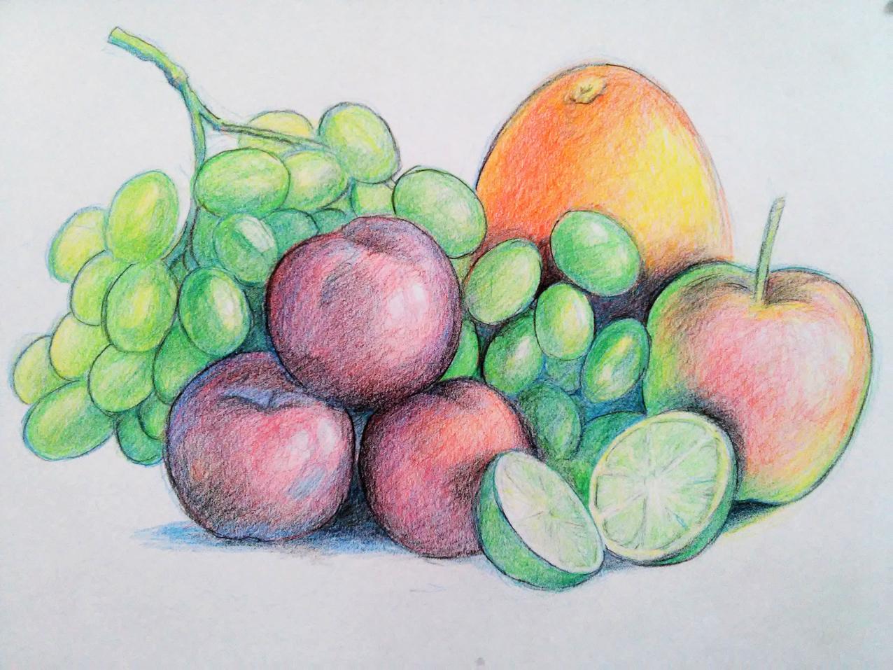 El Taller De Miguel Angel Como Dibujar Frutas Con Lapices De Colores