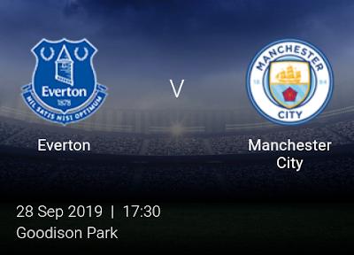 LIVE MATCH: Everton Vs Manchester City Premier League 28/09/2019