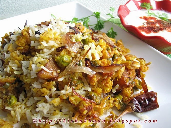 Quick vegetable biryani