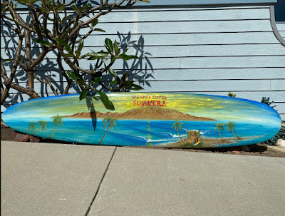 Original art surfboards by Paul Carter