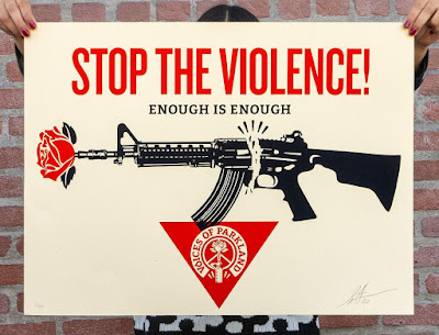 "OBEY Giant ""Parkland Voices"" Movie Poster Screen Print by Shepard Fairey"