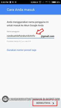 Daftar Akun Google - Buat Email Baru Lewat HP