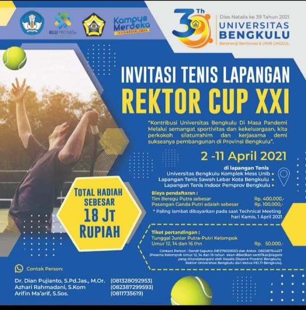 Invitasi Tenis Lapangan Rektor Cup XXI