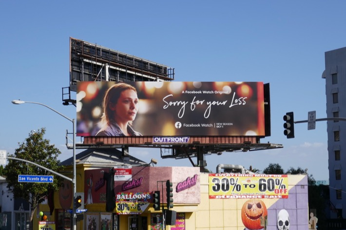 Sorry for Your Loss season 2 billboard