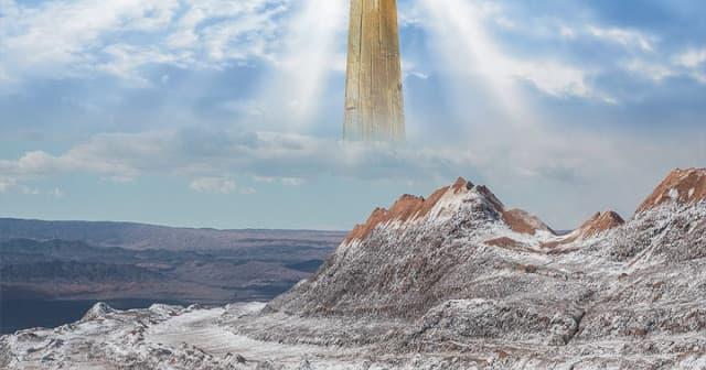 A imagem mostra uma representação do vale de David na Bíblia.