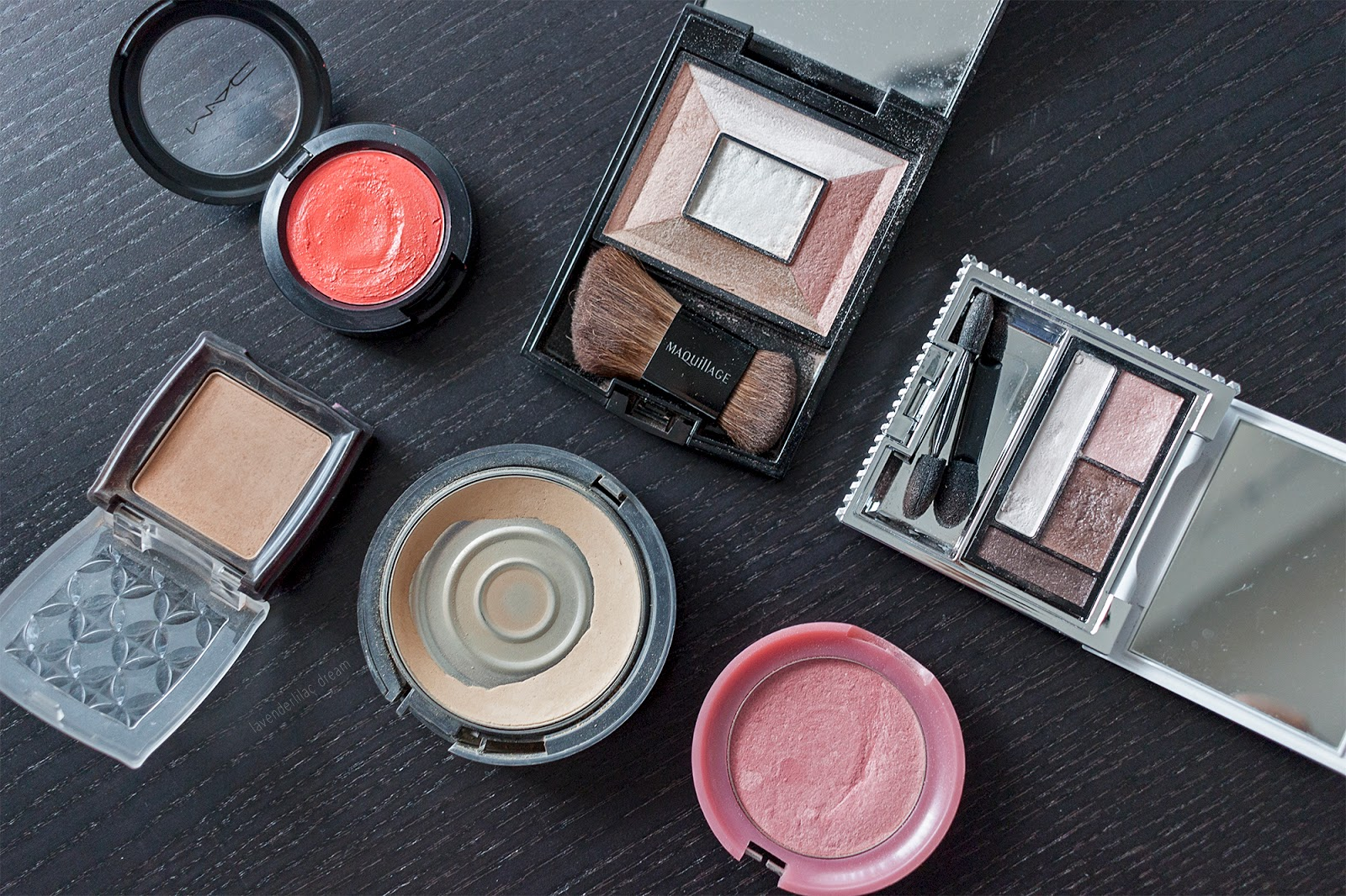 Asian makeup, Korean makeup, Japanese makeup, Etude House blush, Etude House bronzer, Maquillage Face Creator, Esprique Precious eye palette, MAC cosmetics cream colour blush