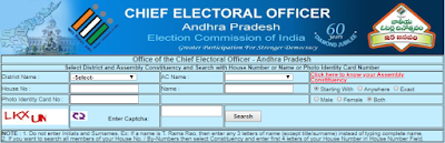 verify Name in the Electoral Roll through web