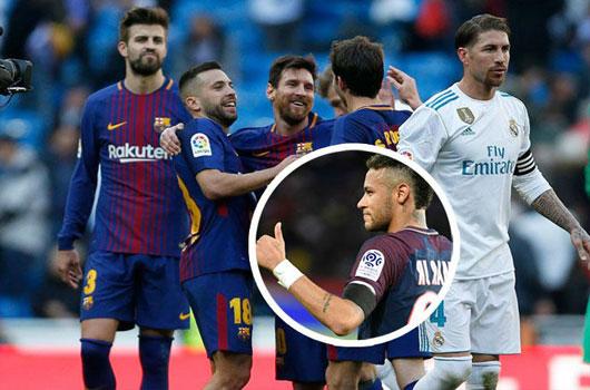 """Real thua thảm Barca: Nỗi lo Neymar """"chạy mất dép"""", siêu sao quay lưng 1"""