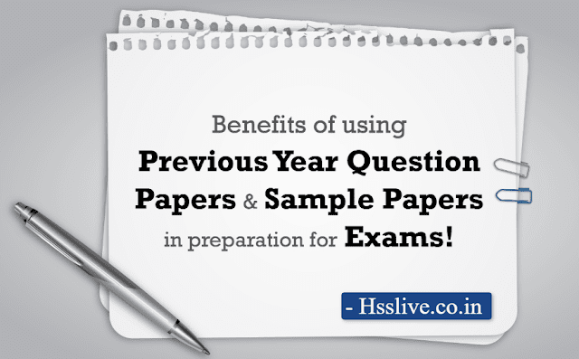 Hsslive Plus One (XI) Previous Year Question Papers and Answers