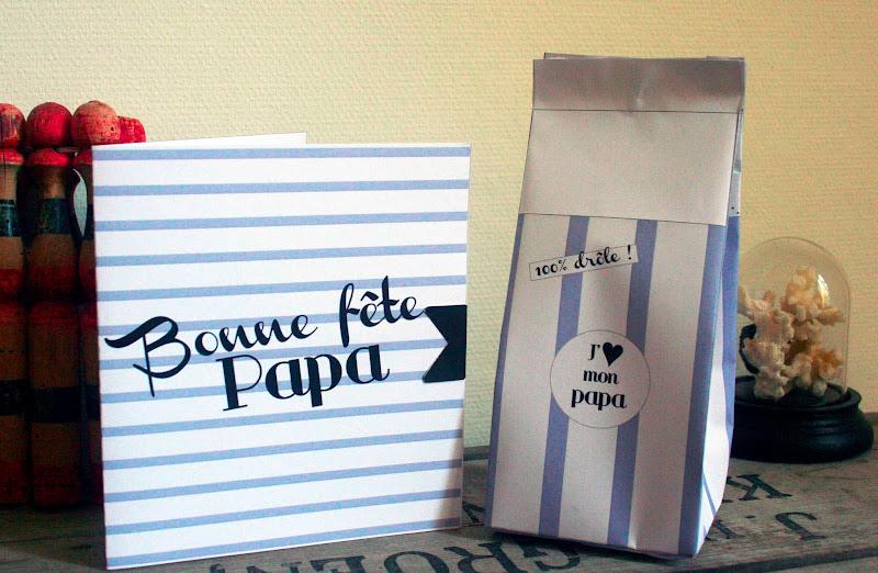 mon ampersand un emballage cadeau imprimer pour f ter les papas. Black Bedroom Furniture Sets. Home Design Ideas