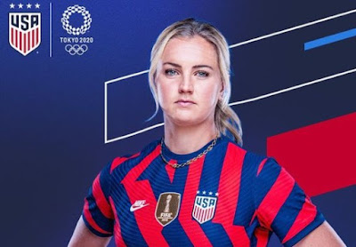 Picture of soccer player Lindsey Horan in her national team dress