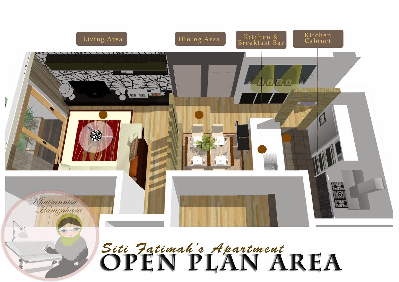 Perkhidmatan Rekabentuk Online Hiasan Dalaman Ruang Terbuka Apartment