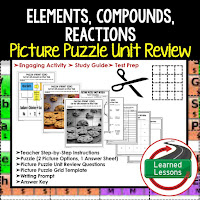 PHYSICAL SCIENCE Test Prep, PHYSICAL SCIENCE Test Review, PHYSICAL SCIENCE Study Guide, Elements, Compounds, Reactions
