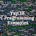 C Programs | Top 10 C Programming Examples with Output