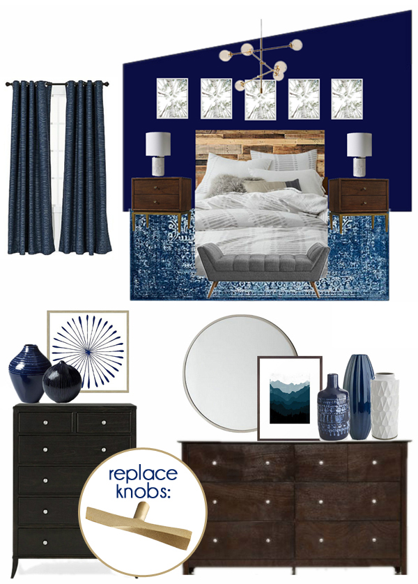 Navy Master Bedroom Decor
