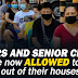 Minors and Senior Citizens are now Allowed to Leave their Homes - IATF