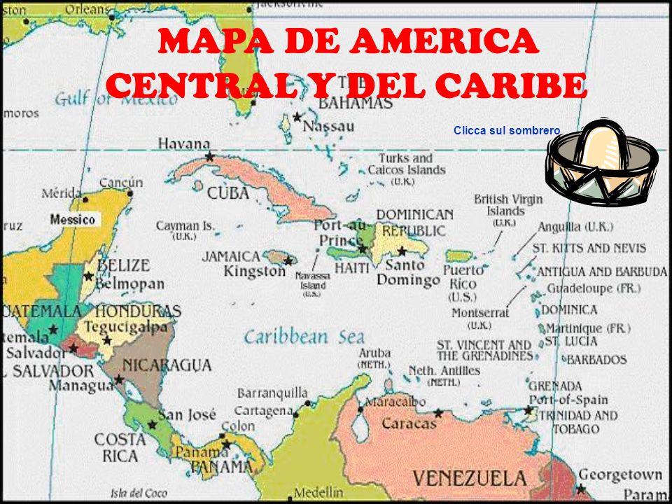 El Caribe Blank Map