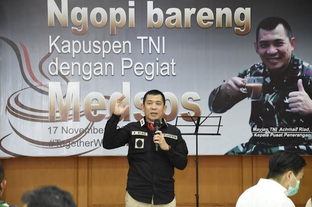 Kapuspen TNI : Perang Saat Ini, Peperangan Informasi di Media Sosial