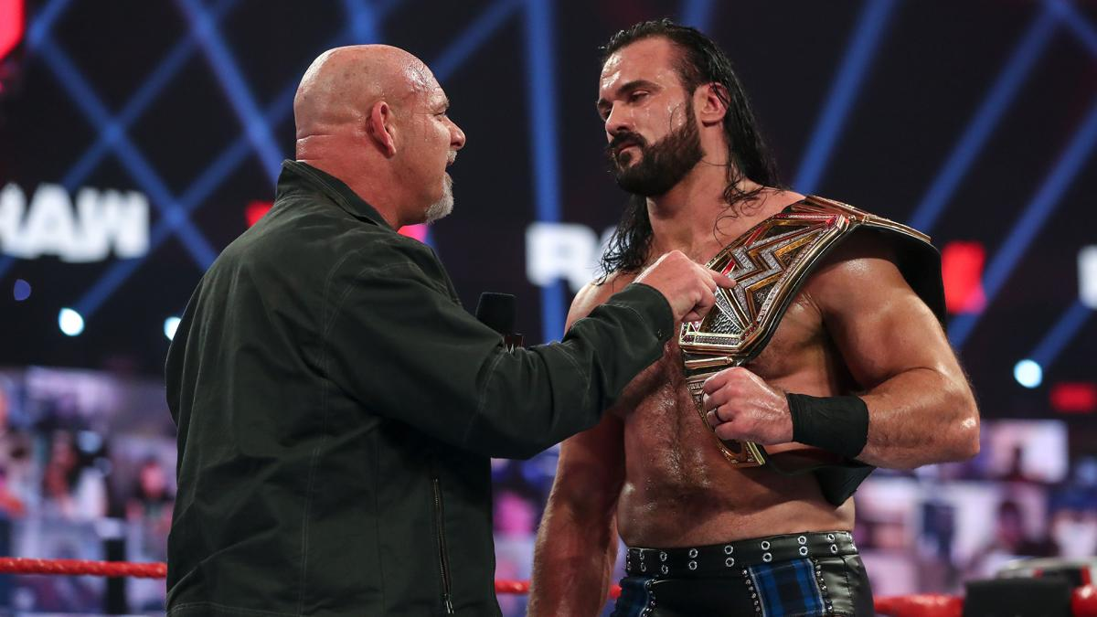 Drew McIntyre and Goldberg on WWE RAW