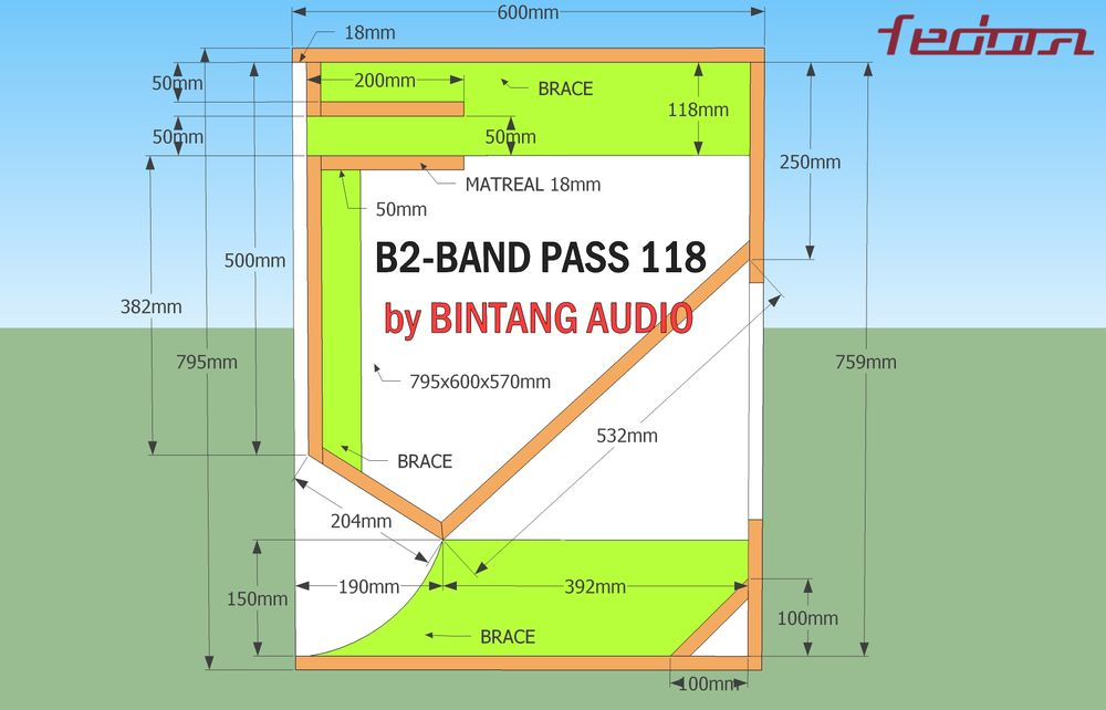 Bandpass subwoofer 118 full schematics