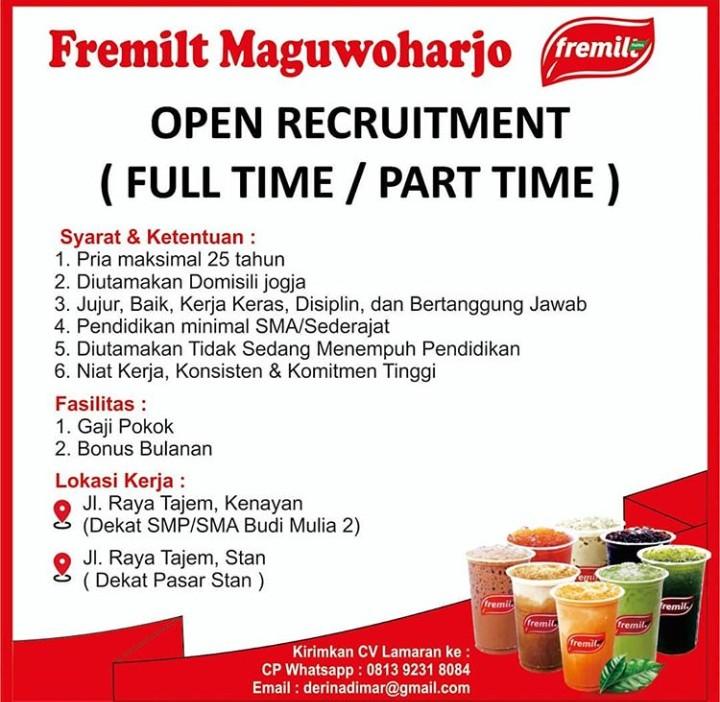 Lowongan Kerja Full Time Part Time Di Fremilt Maguwoharjo Yogyakarta Bursa Lowongan Kerja