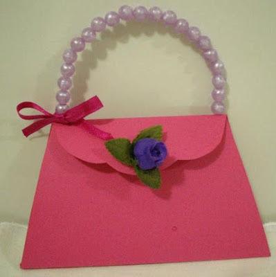 tarjeta cartera rosada