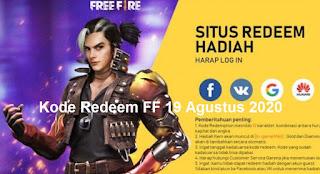 Kode Redeem FF 19 Agustus 2020