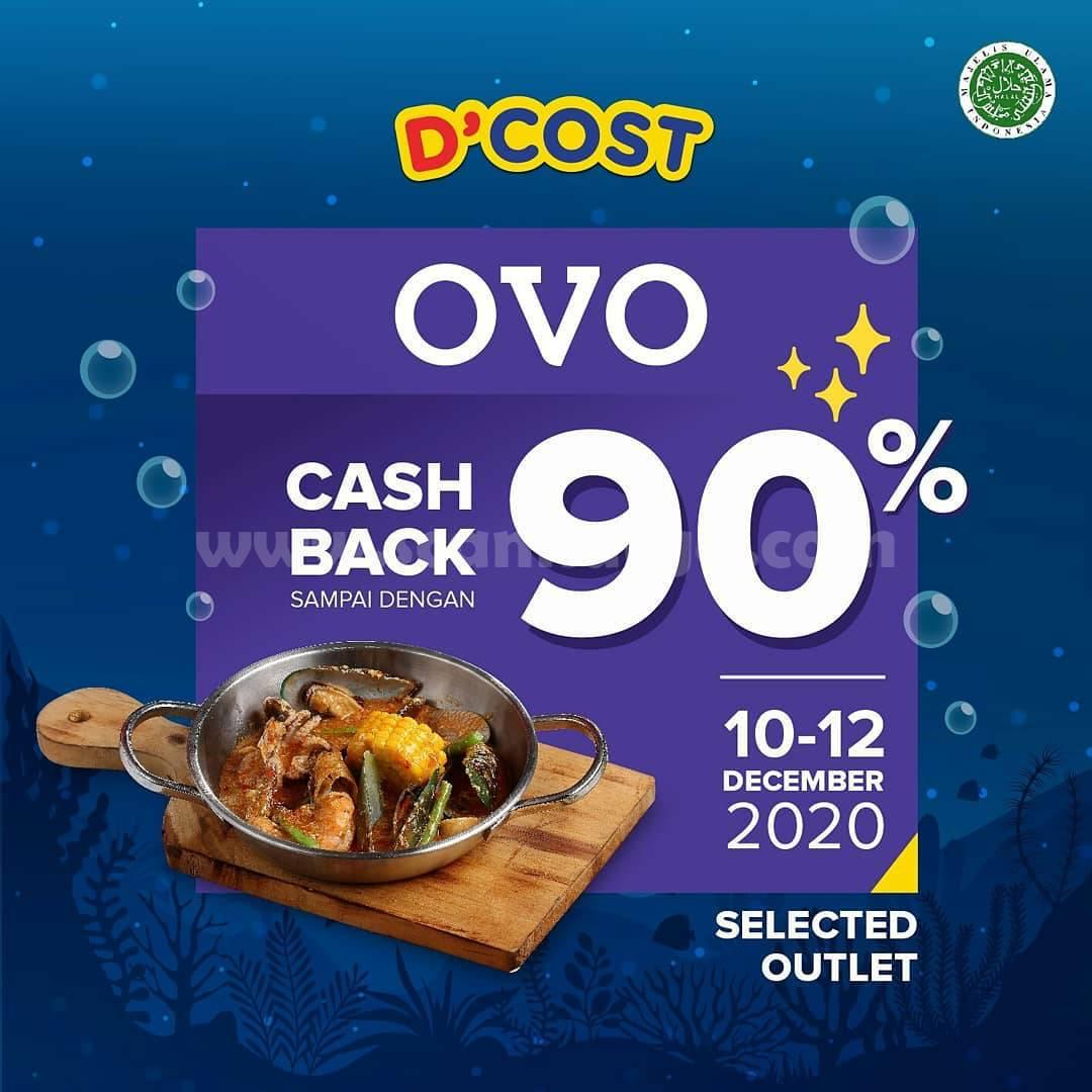 D'cost Promo Cashback 50% + 40% Extra Cashback menggunakan OVO