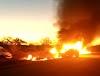 Jacobina: Carro pega fogo após batida , entre Lages do Batata e Ourolândia