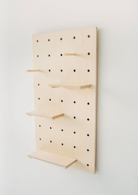 Display-Birch-Plywood-Pegboard-Shelving-Display Unit-wedding ideas-KMich Weddings-Philadelphia PA-thelittledeer.co.uk