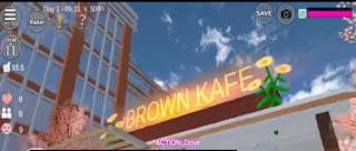 ID Brown Mini Cafe Di Sakura School Simulator