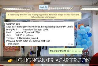 Undangan interview loker Indokids bandung